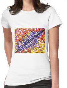 Fireworks At 45 Degrees Womens Fitted T-Shirt