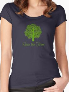 Save the Trees Women's Fitted Scoop T-Shirt