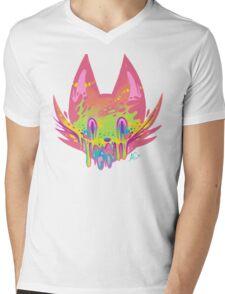 ACID CAT Mens V-Neck T-Shirt