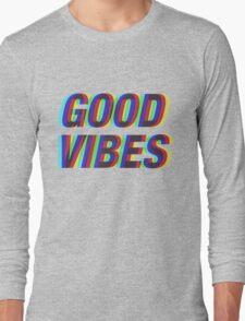 Good Vibes Trippy Long Sleeve T-Shirt