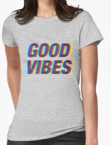 Good Vibes Trippy Womens Fitted T-Shirt