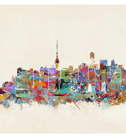 Beijing city skyline Sticker