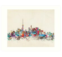 Shanghai city skyline Art Print