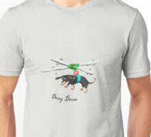 Doxy drone, dachshund flying with drone. Unisex T-Shirt