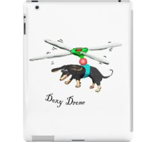 Doxy drone, dachshund flying with drone. iPad Case/Skin