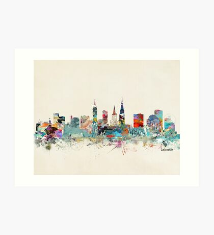 Leicester city skyline Art Print