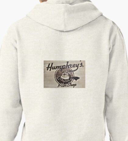 Humphrey's Pilot Shop Woodburned logo Brampton Flight Centre  Pullover Hoodie