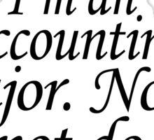 Accounting Sticker