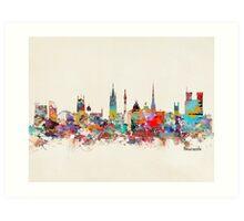 newcastle city skyline Art Print