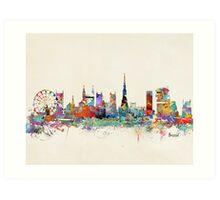Bristol city skyline Art Print