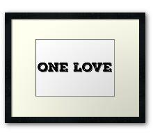 Reggae Music Lyrics One Love Framed Print
