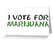 Marijuana Vote Smoke Weed T-Shirts Greeting Card