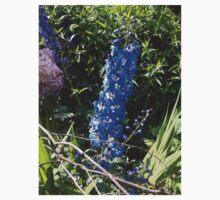 Blue  Flower In Garden One Piece - Short Sleeve