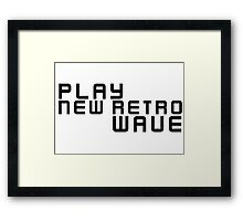 Party Dance New Retro Wave Music Framed Print