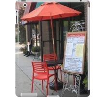 Flemington, NJ - Sidewalk Cafe iPad Case/Skin