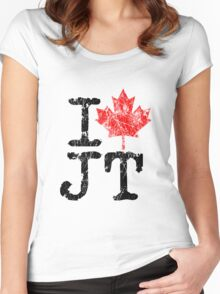 I Love Justin Trudeau Women's Fitted Scoop T-Shirt