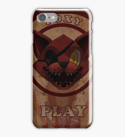 Foxy Poster iPhone Case/Skin