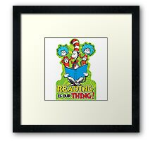 Dr Seuss Reading Quote Framed Print