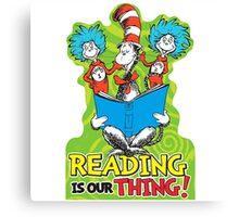 Dr Seuss Reading Quote Canvas Print