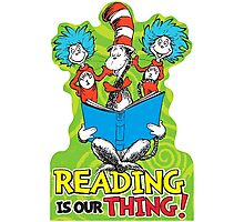 Dr Seuss Reading Quote Photographic Print