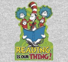 Dr Seuss Reading Quote One Piece - Long Sleeve