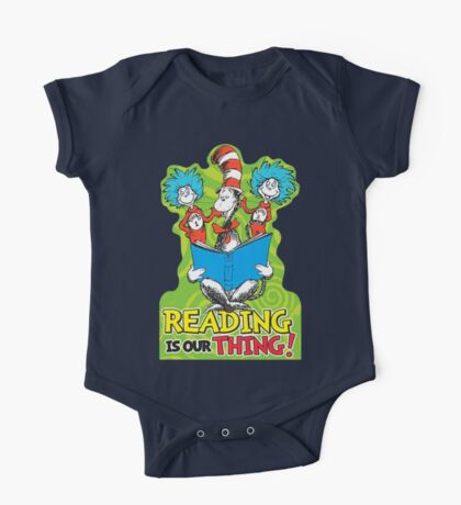 Dr Seuss Reading Quote One Piece - Short Sleeve