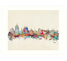 Québec city skyline Art Print