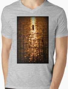 Fire Water Mens V-Neck T-Shirt