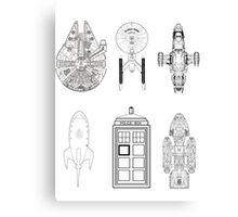 Star Wars Ship Canvas Print