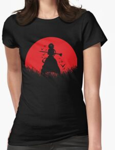 Aladdin Red Moon Magi Womens Fitted T-Shirt