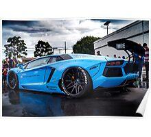 Not a Liberty Walk Lamborghini Aventador :) Poster