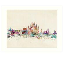 milan city skyline Art Print