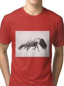 Pegasus (Black & White) Tri-blend T-Shirt