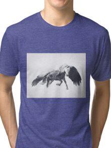 Pegasus (Black & White) Tri-blend T-Shirt