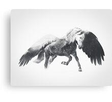 Pegasus (Black & White) Canvas Print