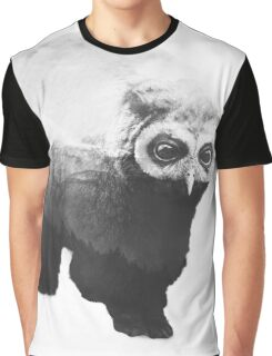 Owlbear in Mountains (Black & White) Graphic T-Shirt