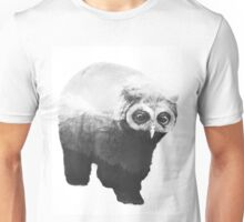 Owlbear in Mountains (Black & White) Unisex T-Shirt