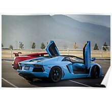 Not a Lamborghini Aventador and Gallardo Super Trofeo Stradale :) Poster