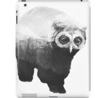 Owlbear in Mountains (Black & White) iPad Case/Skin
