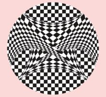 Twisted Checkers Baby Tee