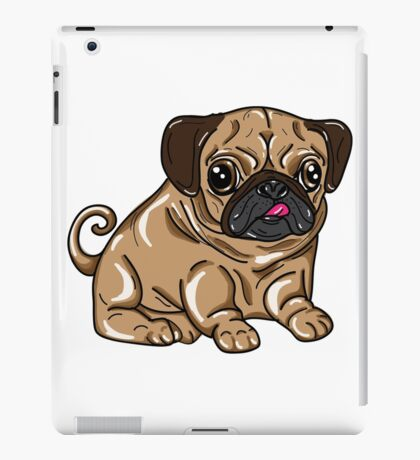 pugs not drugs iPad Case/Skin
