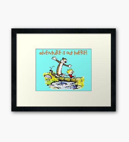 Calvin and Hobbes' Wonderful Adventure Framed Print
