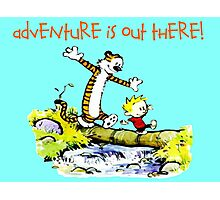 Calvin and Hobbes' Wonderful Adventure Photographic Print