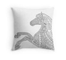 Horse mandala Throw Pillow