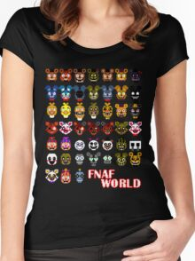 FNAF World Women's Fitted Scoop T-Shirt