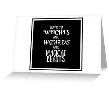 Get Back To Hogwarts Greeting Card
