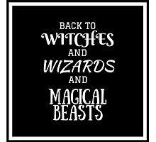 Get Back To Hogwarts Photographic Print
