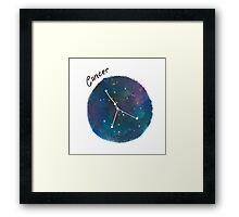 cancer galaxy  Framed Print