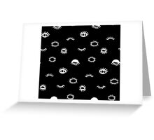 eyes print. Hipster style Greeting Card