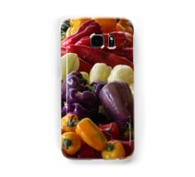 Colorful Peppers, Jersey City Farmers Market, Jersey City, New Jersey Samsung Galaxy Case/Skin